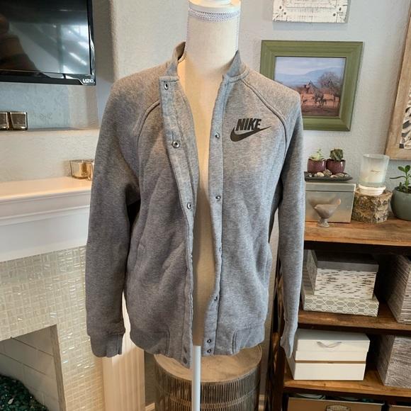Nike Jackets & Blazers - Nike S Grey Sweater Jacket - Like New